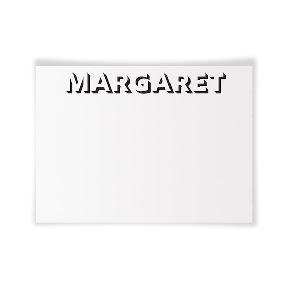 MARGARET | Printable Note Card