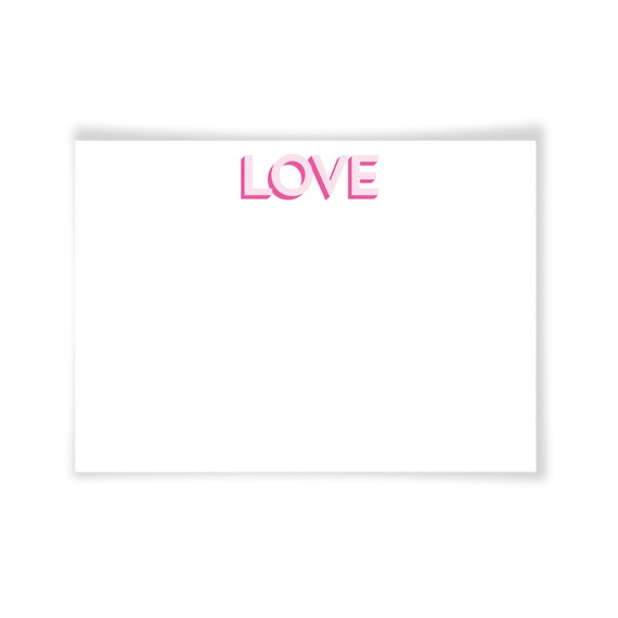 LOVE | Personalized Printable Note Card