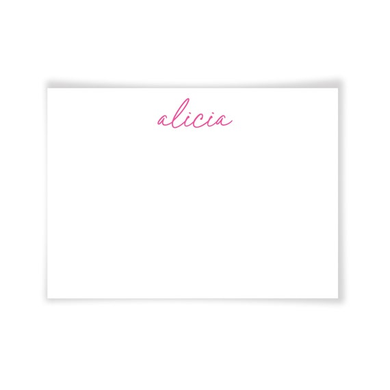 ALICIA | Printable Note Card