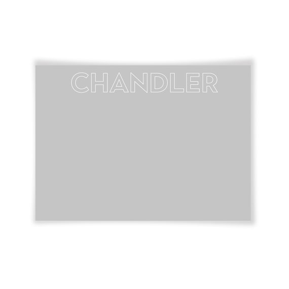 CHANDLER | Printable Note Card