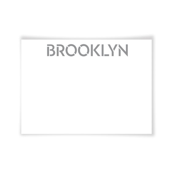 BROOKLYN | Printable Note Card