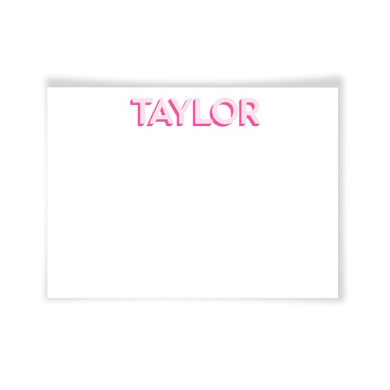 TAYLOR | Printable Note Card