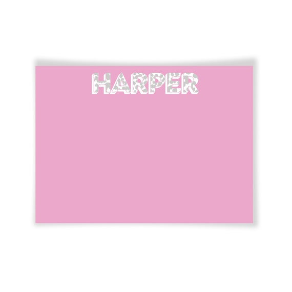HARPER | Printable Note Card