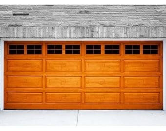 Garage Door Decal Etsy