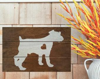 Miniature Schnauzer Silhouette Wood Sign, Miniature Schnauzer Sign, Schnauzer Agility, Schnauzer Decal, Schnauzer Painted Sign, Schnauzer