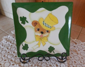St. Patrick's Bear Plate