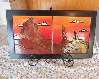 Desert Sunset Wall Plaque