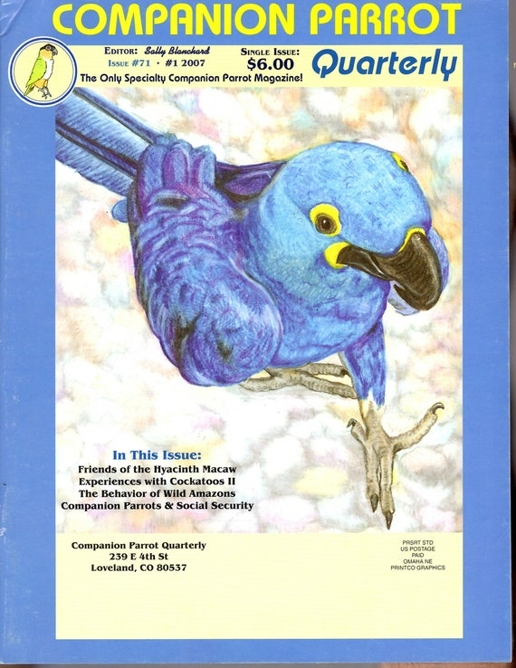 Friends of the Hyacinth Macaw from Sally Blanchard's Companion Parrot Quarterly