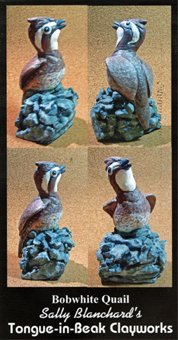 Bobwhite Quail - Sally Blanchard's Tongue-in-Beak Clayworks