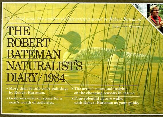 Robert Bateman Internationally-known Wildlife Artist 7 Vintage Notebook Calendars showing his Superb Paintings in Original Boxes