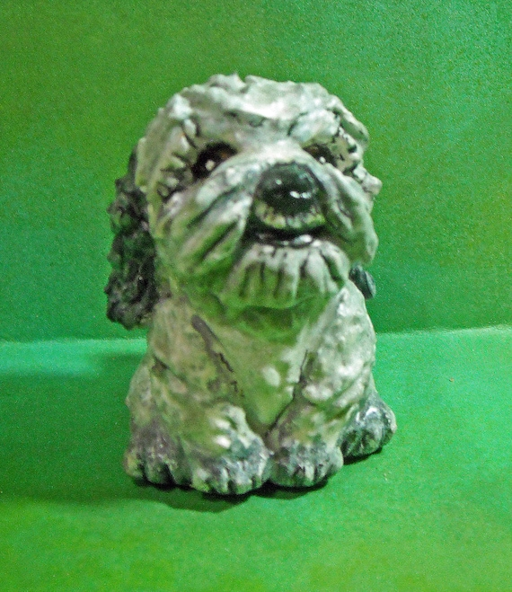 Shih Tzu Puppy Dog Sally Blanchard's Original Tongue-in-Beak Clayworks Caricature