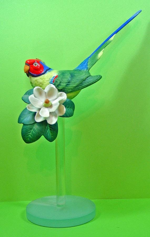 Gorgeous Franklin Mint Plum-headed Parakeet