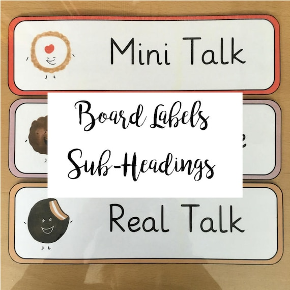 Classroom Board Labels | Sub-Headings | Lesson/Objective/Activity Labels |  Printable | Download | PDF | ESL Resource