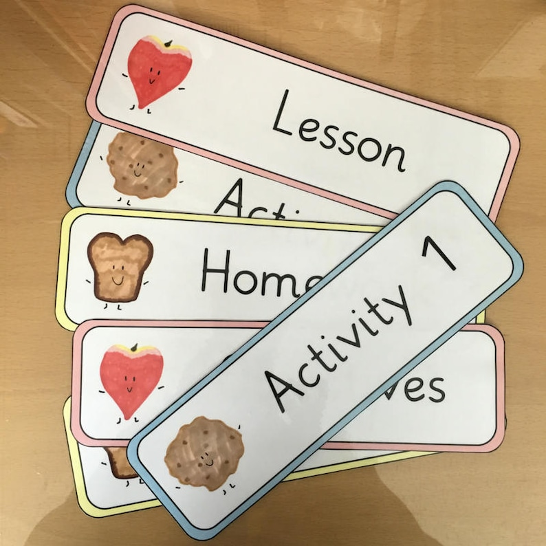 Classroom Board Labels | Headings | Lesson/Objective/Activity Labels |  Printable | Download | PDF | ESL Resource