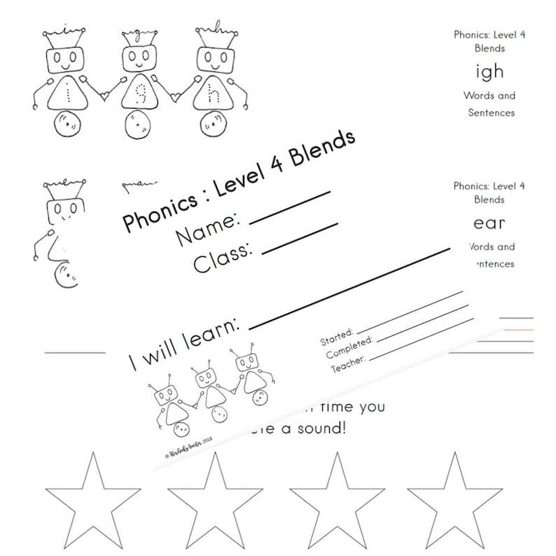 Level 4 Phonic Blends Phonics Worksheets Printable