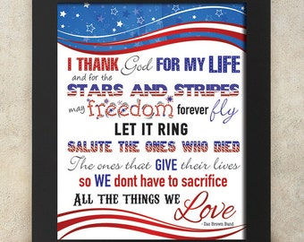 Zac Brown Band Lyrics Subway Art - Memorial Day, Veterans - 4th of July, Labor Day - Patriotic - Red, white and blue - Love-Instant Download