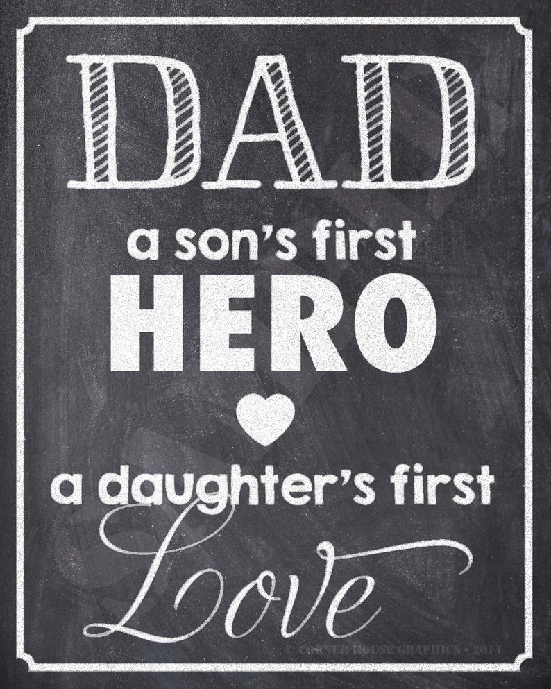 Download DAD a sons first HERO a daughters first LOVE 8x10 ...