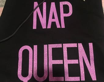 NAP QUEEN Sweatshirt/T-shirt Vinyl Iron On - Sweatshirt/T-shirt not included -Iron On Only - Black or White