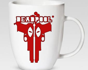 DeadPool 12 oz. Coffee Cup - Coffee Mug - 46 Different Colors Available