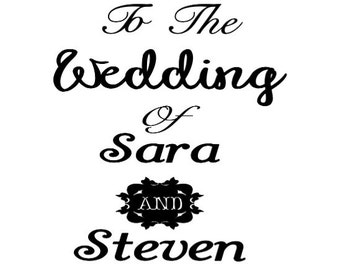 """Custom Vinyl """"Welcome"""" Wedding Sign Decal - Attach to Any Frame or Wood"""