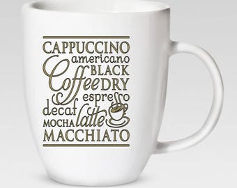 Coffee Lover - 12 oz. Coffee Cup - Coffee Mug - 46 Different Colors Available