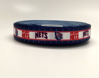 7/8 New Jersey Nets Grosgrain Ribbon