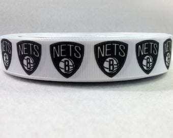 7/8 Brooklyn Nets Grosgrain Ribbon