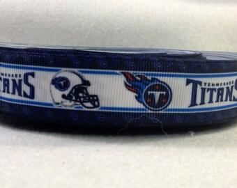 7/8 Tennessee Titans Grosgrain Ribbon