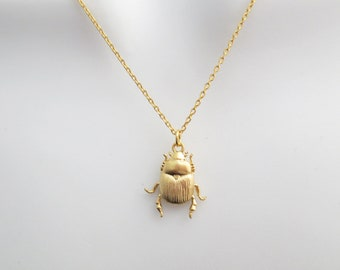 Beetle long necklace Unisex men necklace Ceramic pendant necklace Mens and women necklace Jewelry for men and women Gift for boyfriend