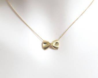 Modern, Dainty, Pasta, Farfalle, Gold, Silver, Rose gold, Necklace, Lovers, Best friends, Mom, Sister, Christmas, Gift, Accessory, Jewelry