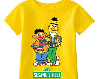 016e7c7cb Sesame Street Bert and Erni custom t-shirt (Different Colors)