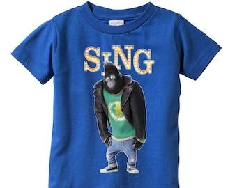 dcf9ae9a6 Sing Movie Johnny gorilla t-shirt / Sing Movie shirt / Gorilla t-shirt /  Sing gorilla t-shirt / sing movie / Johnny gorilla / Johnny gorilla
