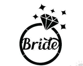 Wedding Ring SVG | Cut File | DXF file | Wedding ring svg | Diamond ring SVG | svg files for Silhouette | svg files for Cricut