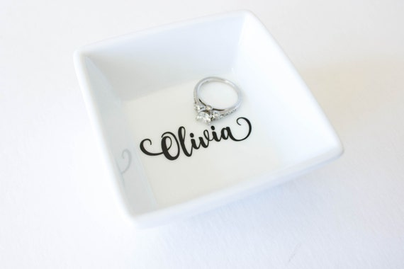Personalized Ring Dish Gift For Her Bridal Party Gift Etsy