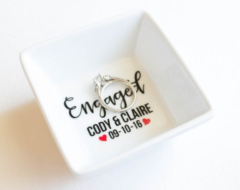Ring Dish | Engagement Ring Dish | Bridal shower gift | Ring holder | Engaged | Custom Engagement Ring Holder | Jewelry dish