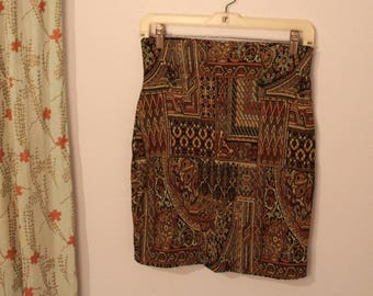 90s Express Compagnie Internationale Pencil Skirt - Made in Italy - M - Fits Like a 4