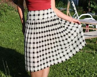 Pleated Skirt Pleated A-Line Midi Size Medium Large