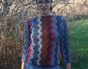 Ziggy Zig Zag Sweater Multi Size Small
