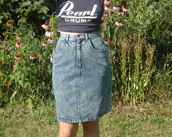 Acid Washed Denim Pencil Skirt Size Xtra-Small/Small *** ON SALE***