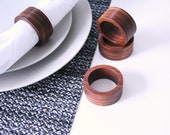 Walnut wood Napkin Rings (Set of 4)