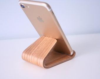 Ash wood phone holder - phone stand.