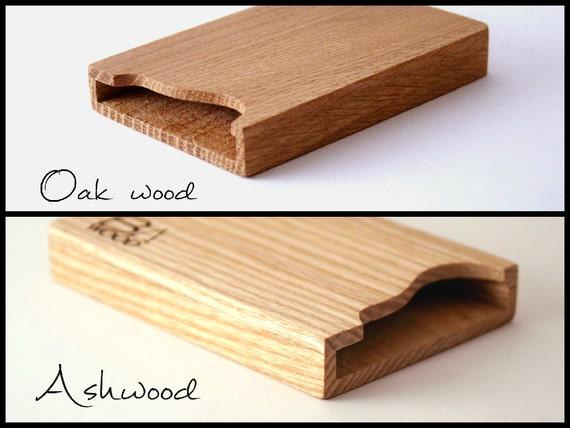 Individuelle Gravur Holz Visitenkarten Etui
