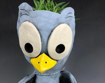 Paige the Owl Pothead // Book Loving Ceramic Owl Planter