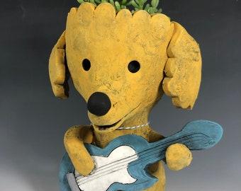 Lindsey Barkingham Succulent Planter // Adorable Little Puppy Planter