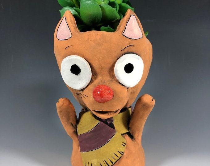 Featured listing image: Gryffindor Cat Succulent Planter // Harry Potter Fan Art Planter