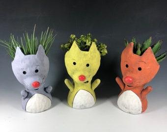 Cat Pothead Peeps Succulent Pot // Adorable Cat Planters