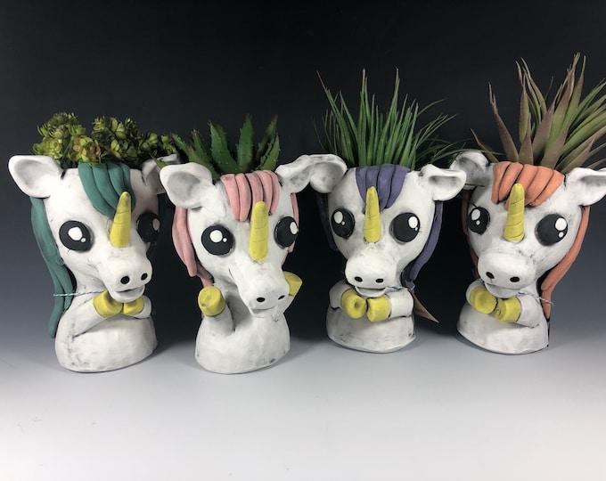 Lovely Little Unicorns // Ceramic Unicorn Planters