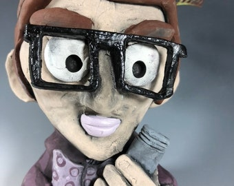 Professor Plum with the Pipe // Clue // Board game characters // Potheads // Succulent Pot // Handmade Planter // Purple //