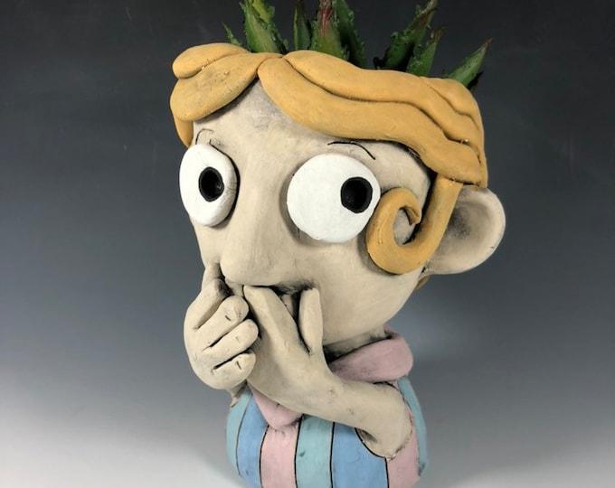 Inez Character Face Planter // Original Collection Pothead // Succulent Face Pot
