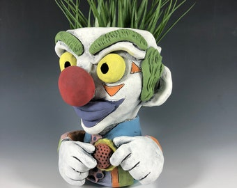 Dink the Clown Succulent Pot // Killer Clown Planter